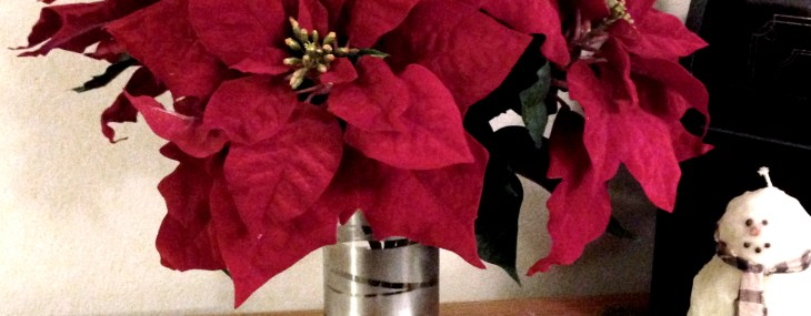 Super Simple DIY Poinsettia Flower Arrangement