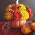DIY Pumpkin Fall Floral Centerpiece   Love My DIY Home