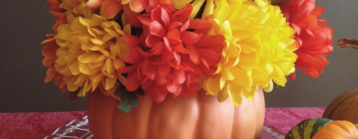 DIY Pumpkin Floral Centerpiece