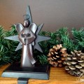 Bronze Angel stocking holder | Love My DIY Home