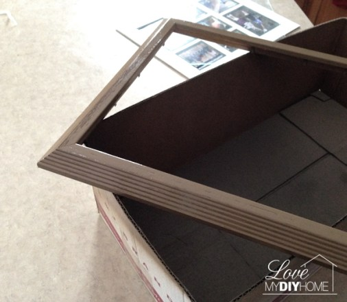 Photo frame for upcycling into a French Photo Frame