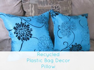 Recycle Plastic Bag Pillows