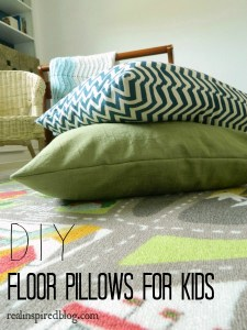 DIY floor pillows for kids | Real Inspired