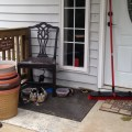 Messy porch after a long winter