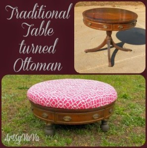 Traditional Table turned Ottoman