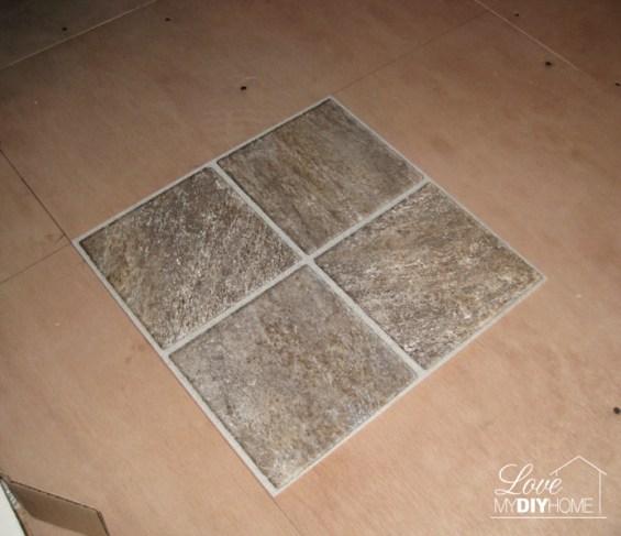 DIY Kitchen floor {Love My DIY Home}