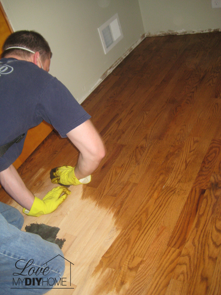 Refinishing Wood Floors {Love My DIY Home}