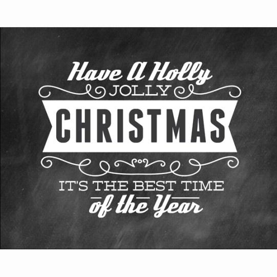 Holly Jolly Christmas Word Art {Love My DIY Home}