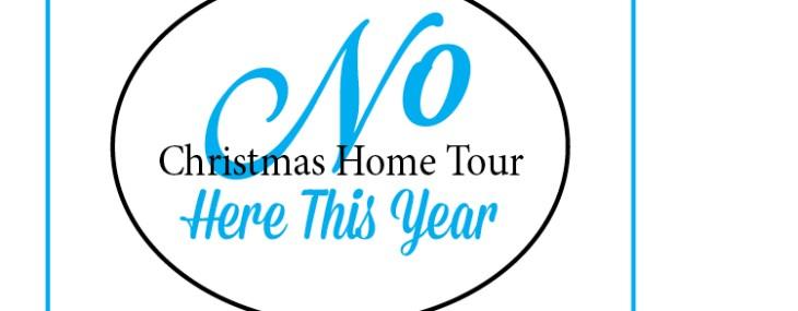 No Christmas Home Tour Here