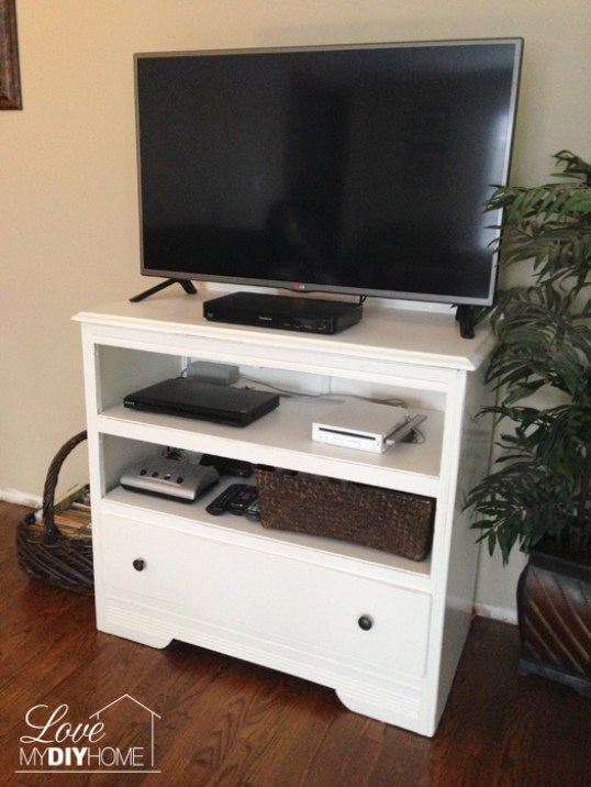 Dresser Turned TV Stand {Love My DIY Home}