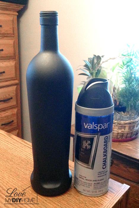 Chalkboard Painted Bottle {Love My DIY Home}
