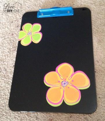 Neon Clipboard Transformation {Love My DIY Home}