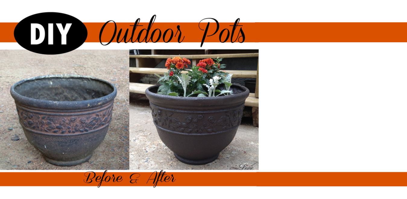 Before and After Outdoor Pots Revived! {Love My DIY Home}