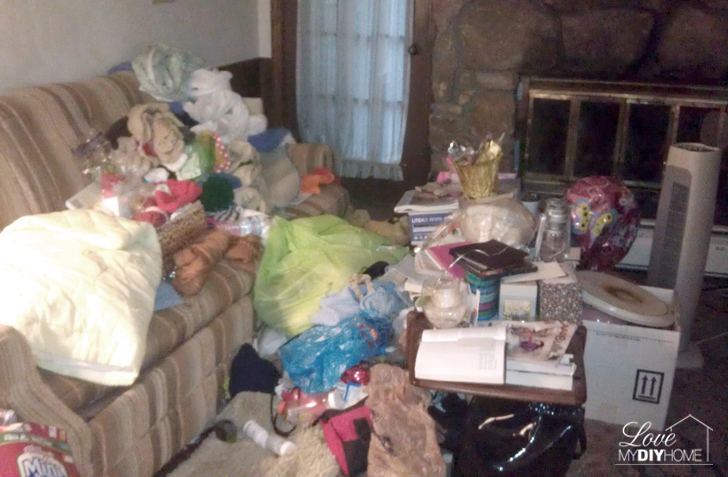 Hoarding - a flipped house {Love My DIY Home}