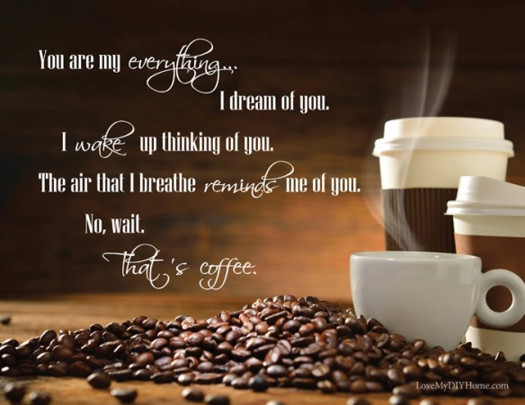 I Love Coffee FREE Word Art {Love My DIY Home}