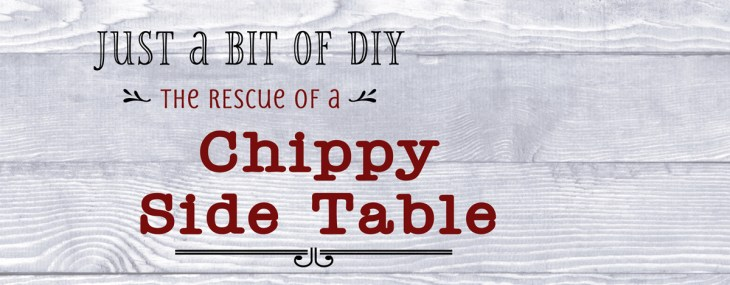 DIY Enhancing of a Chippy Side Table