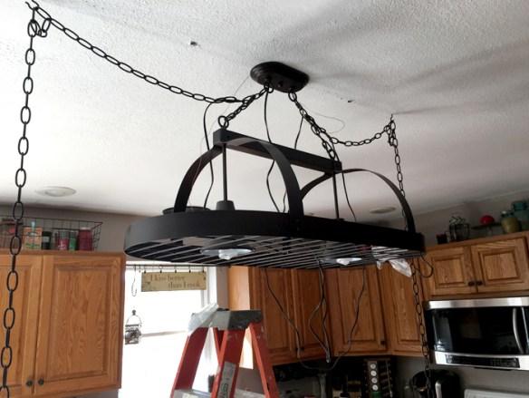 Island Pot Rack {Love my DIY Home}