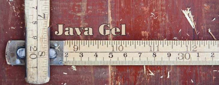 Using Java Gel on a Table Top