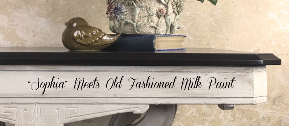 Side Table Given New Life Old Fashioned Milk Paint Company - Old fashioned side table