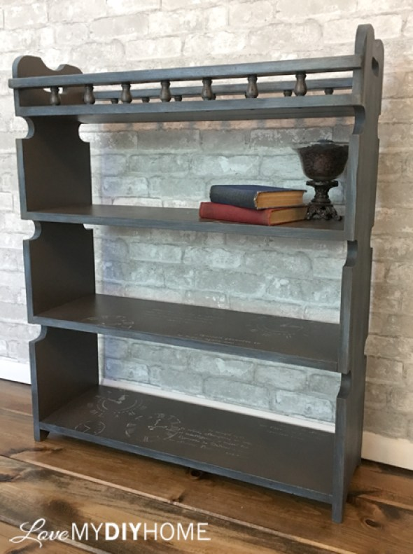 80s Bookshelf Redesigned {Love My DIY Home}