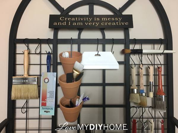 Studio Art Rack {Love My DIY Home}