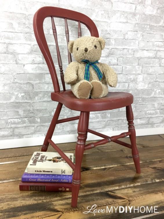 Red Chair Flip {Love My DIY Home)