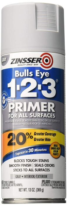 gray Zinsser spray can primer