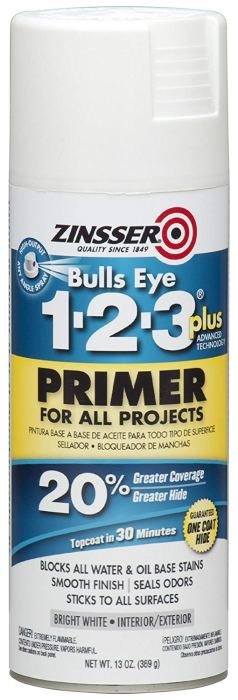 white Zinsser spray can primer