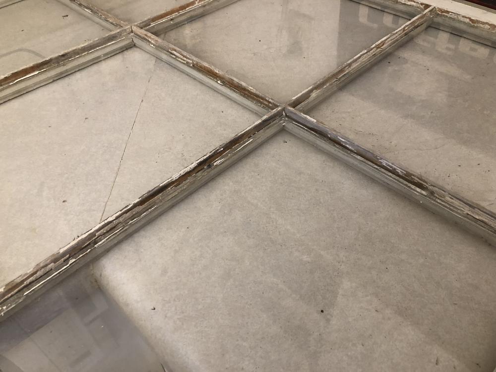 scraped window