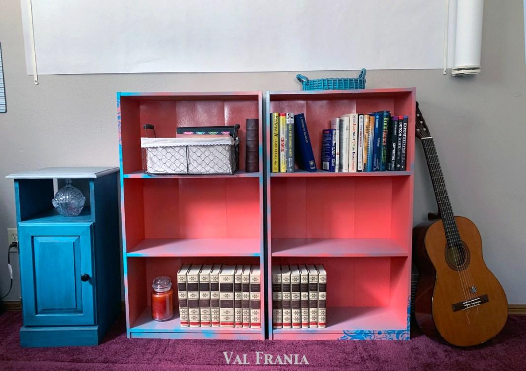 Orange Bookshelves