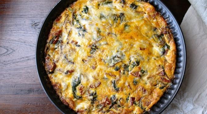 Frittata met spinazie en chorizo 1