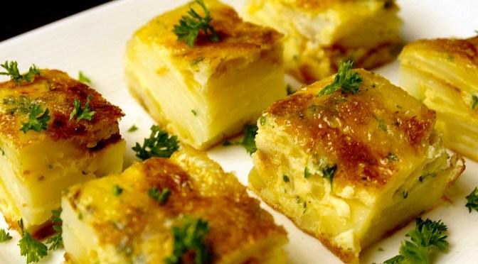 Tortilla de patatas (Spaanse aardappel omelet)
