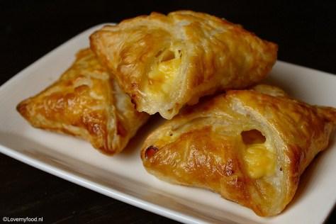 Snelle snack met ham en kaas 3