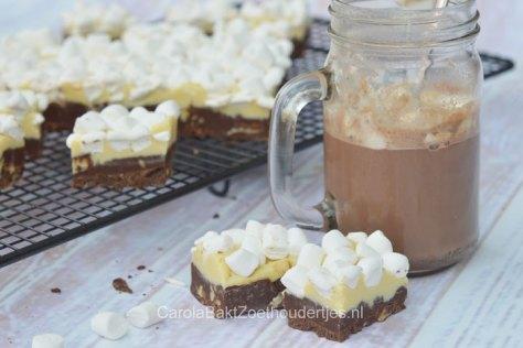 Warme chocolademelk fudge