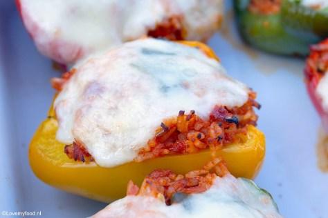Gevulde paprika's met rijst en tonijn 1