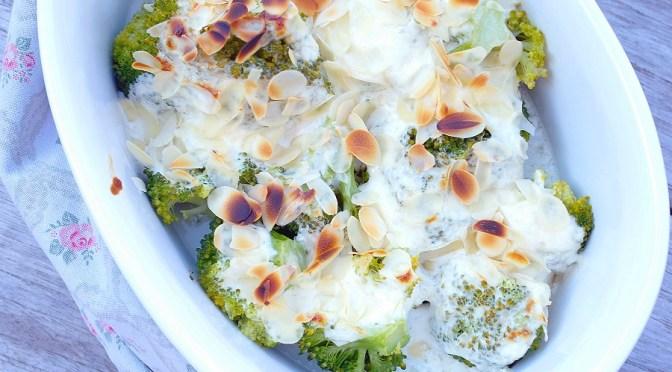 Broccoli met geitenkaas en crème fraîche