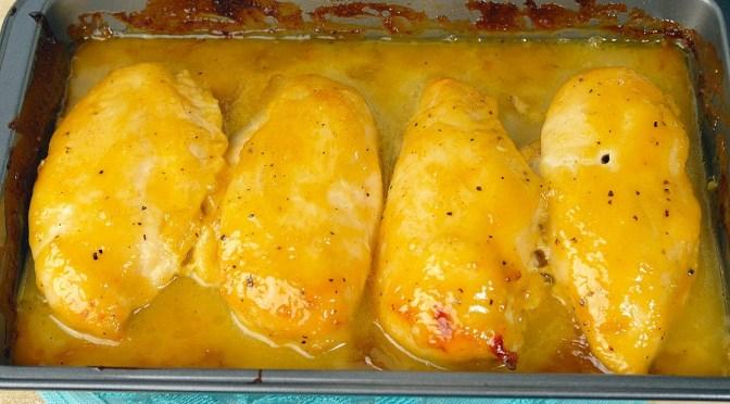 Honing-mosterd kip uit de oven