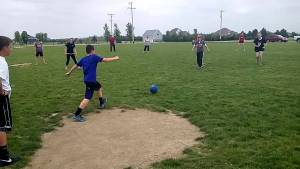 8th Grade vs Teachers Kickball