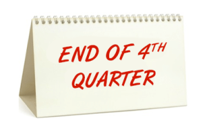 End of 4th Quarter