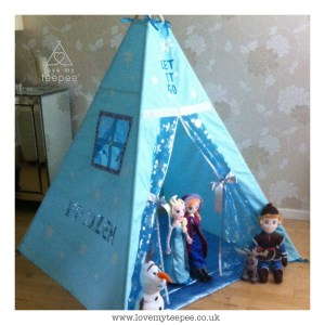 Childrens personalised frozen teepee