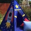 bespoke dark blue rocket teepee tent