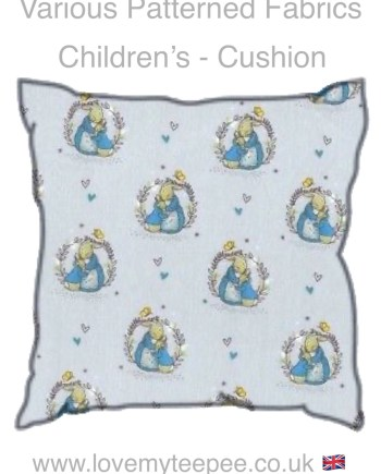 children perter rabbit cushions
