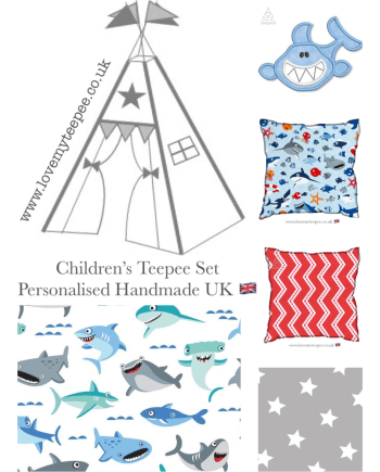 shark teepee set