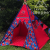 marvel spider man red teepee tent