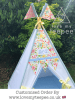 floral white butterfly teepee tent