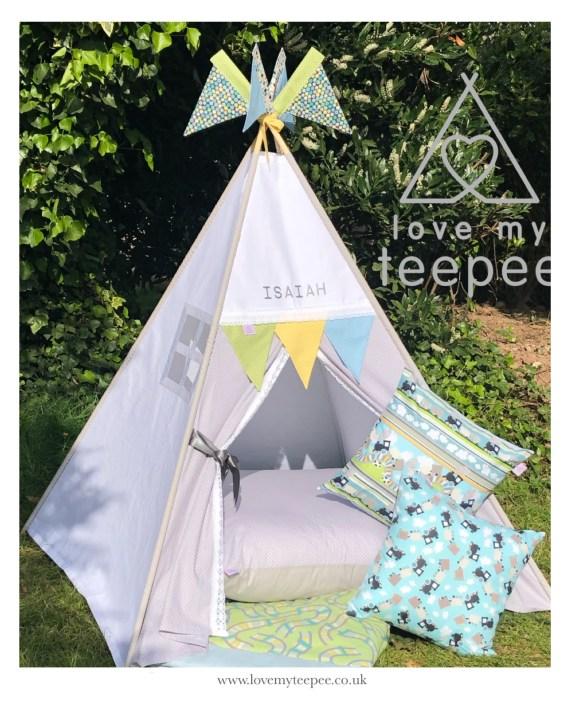 Train teepee tent set
