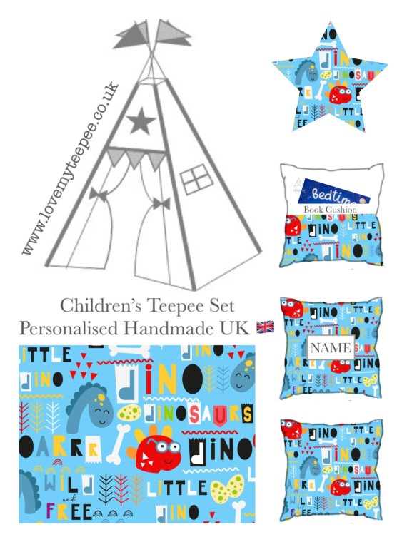 IMG 8954 - Little Dino Blue Teepee Tent