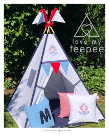 nautical teepee play tent