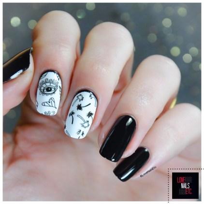 Stamping Master - Black & White Bundle Monster Festival Nail Art BM-S308