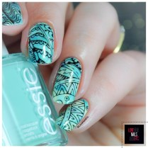 NAC Nail Art Challenge Saran wrap